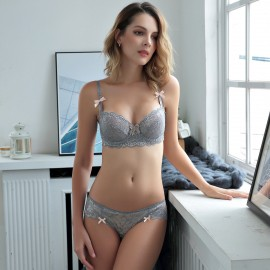 Lovevirl Fatal Attraction Grey Lingerie Set (9186B)
