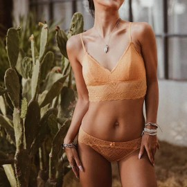 Lovevirl Bohemian Dream Yellow Lingerie Set (BF007)
