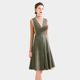 SSXR Fitted Pinafore Green Dress (5675)