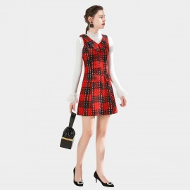 SSXR Punk Collared Red Dress (5678)