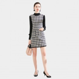 SSXR Apron-Style Check Dress (5683)
