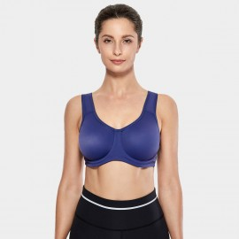 Syrokan V Shape U Back Navy Sports Bra (A227)