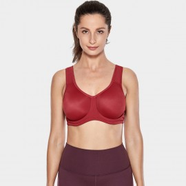 Syrokan V Shape U Back Red Sports Bra (A227)