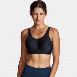 Syrokan Full Coverage U Back Black Sports Bra (A268)