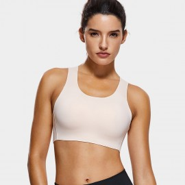 Syrokan Wireless Thick Strap Nude Sports Bra (A277)