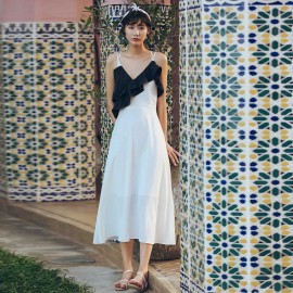 Isislove Monochrome Midi Dress Black/White (DR18023)