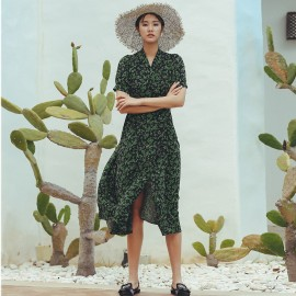 Isislove Garden Party Green Dress (DR18237)