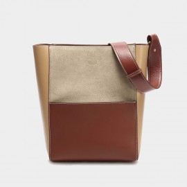 Cilela Accent Patch Brown Tote (3037)