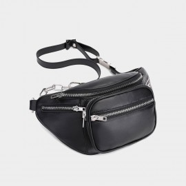 Cilela Chained Up Boxy Black Shoulder Bag (CK-003006L)