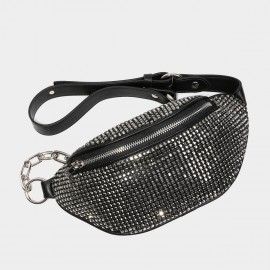 Cilela Glitz and Glam Black Shoulder Bag (CK-003020)