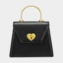 Cilela Key To My Heart Black Satchel (CK-003022)