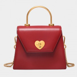 Cilela Key To My Heart Red Satchel (CK-003022)