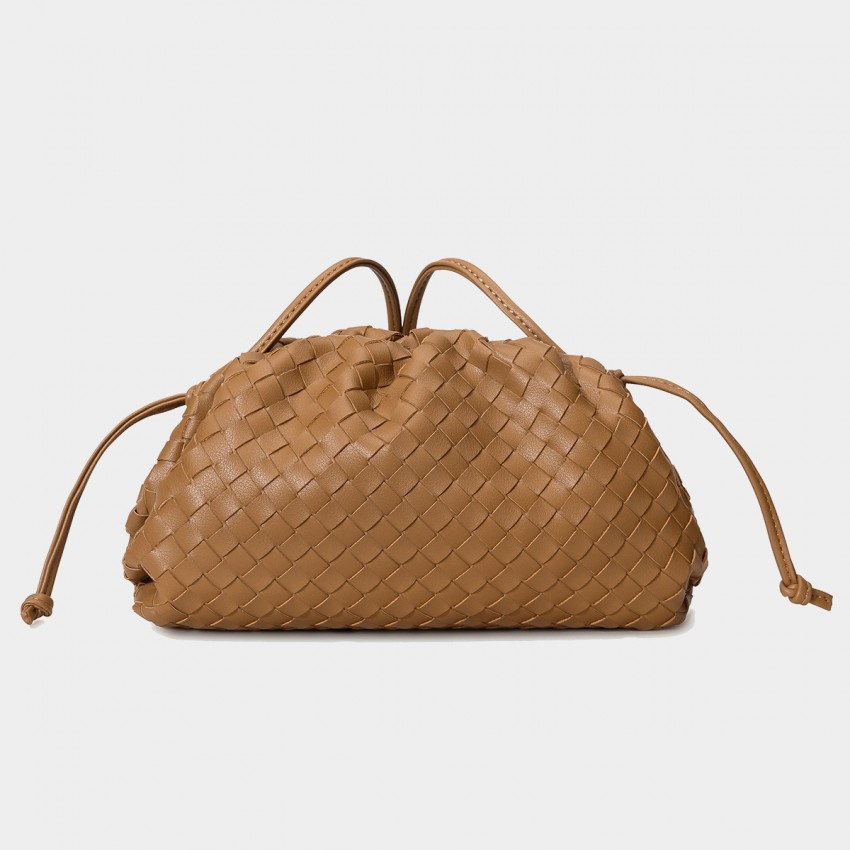 Cilela Woven Brown Shoulder Bag (CK-003023)