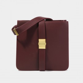 Cilela Square Wine Shoulder Bag (CK-003029)