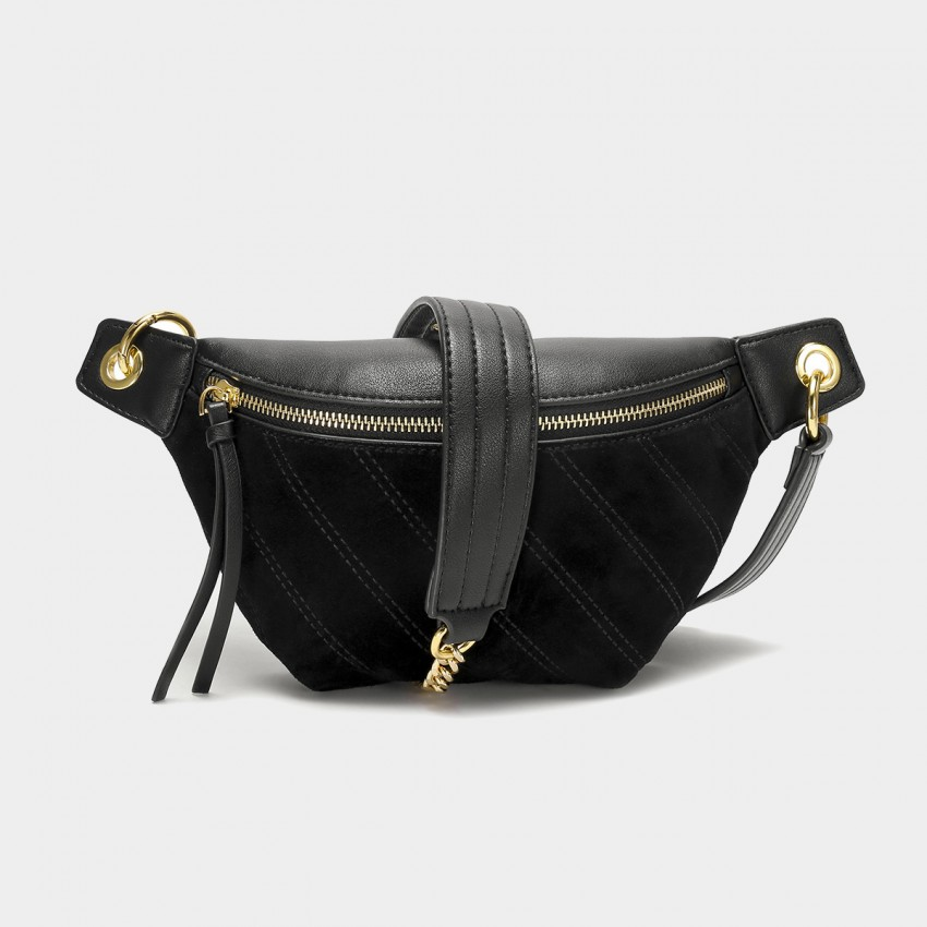 Cilela Suede Black Shoulder Bag (CK-003031)