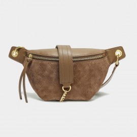 Cilela Suede Brown Shoulder Bag (CK-003031)