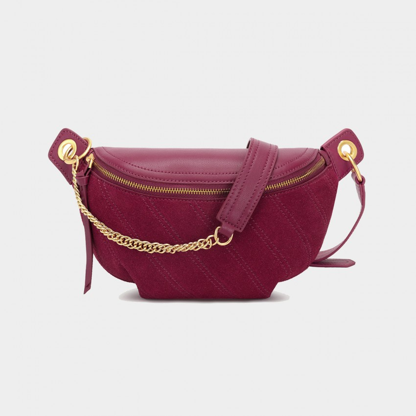 Cilela Suede Wine Shoulder Bag (CK-003031)