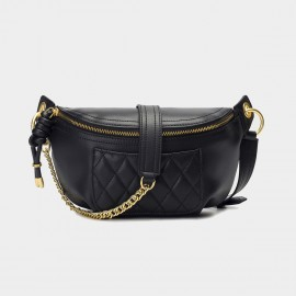 Cilela Quilted Pocket Black Shoulder Bag (CK-003042)