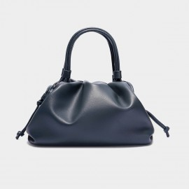 Cilela Gathered Navy Top Handle Bag (CK-003047)