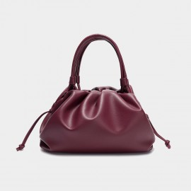 Cilela Gathered Wine Top Handle Bag (CK-003047)
