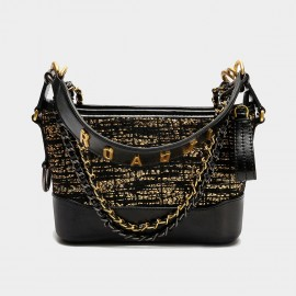 Cilela Multi Chain Strap Black Shoulder Bag (CK-003063)