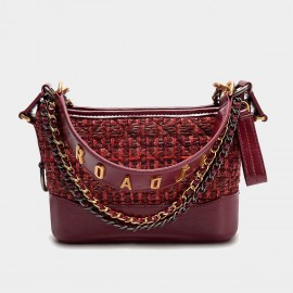 Cilela Multi Chain Strap Wine Shoulder Bag (CK-003063)