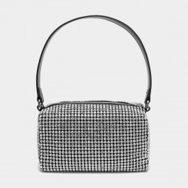Cilela Diamante Silver Shoulder Bag (CK-003075)