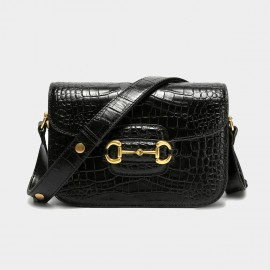 Cilela See You Later Alligator Black Shoulder Bag (CK-003078)