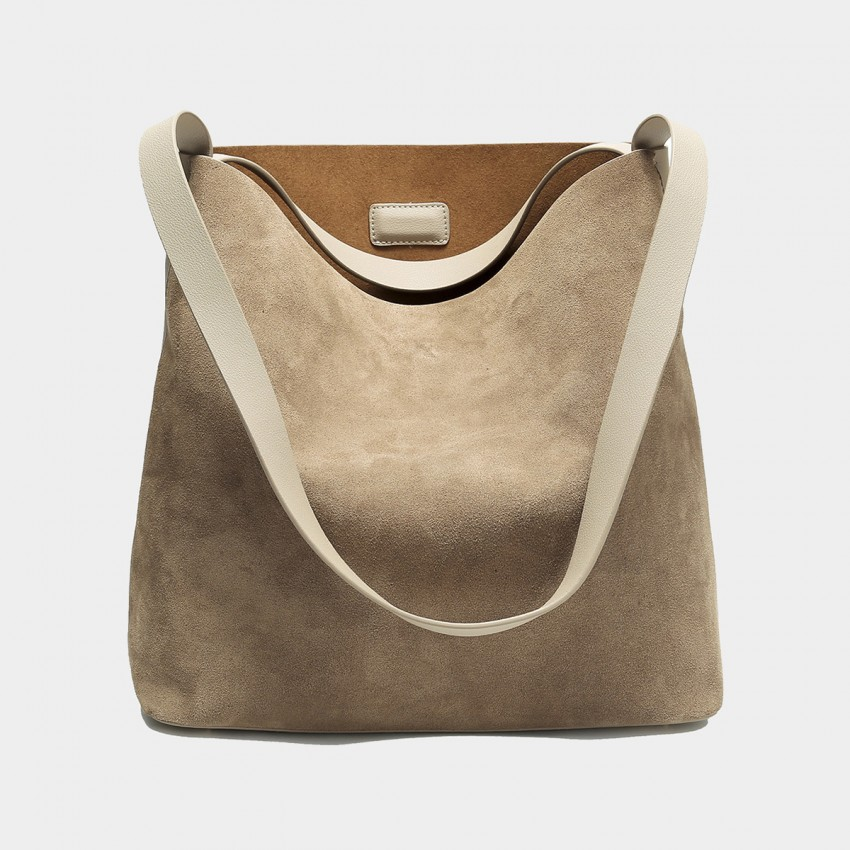 Cilela Keep It Simple Beige Tote (CK-003068)