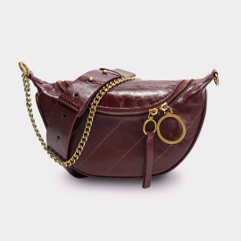 Cilela Soft Shine Wine Shoulder Bag (CK-003052)