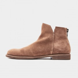 Herilios Basic Round Toe Suede Ankle Brown Boots (H8305G76)