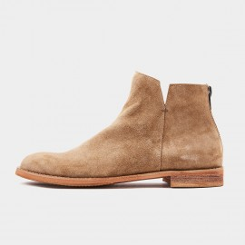 Herilios Basic Round Toe Suede Ankle Camel Boots (H8305G76)