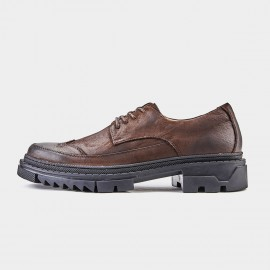 Herilios Breathable Oxford Brown Lace Up (H9105D61)