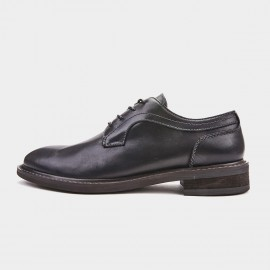 Herilios Classic Glossy Leather Black Lace Ups (H9105D69)