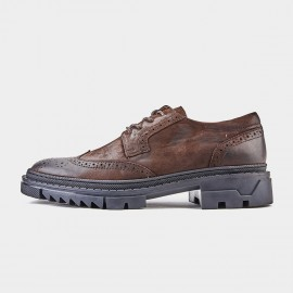 Herilios Platform Oxford Brown Lace Ups (H9105D74)