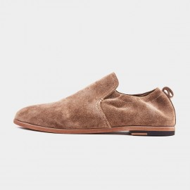 Herilios Soft Suede Brown Flats (H9105D80)