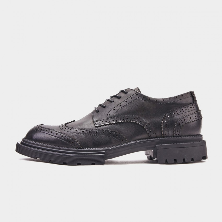 Herilios Military-Inspired Oxford Black Lace Ups (H9105D81)