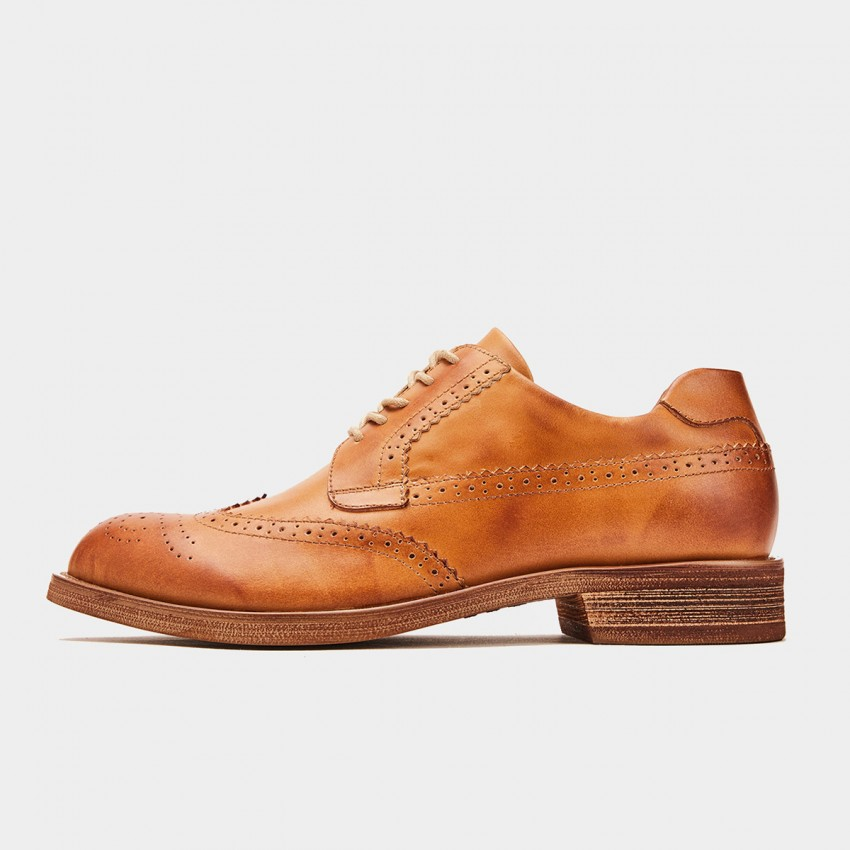 Herilios Dyed Oxford Brown Lace Ups (H9305D88)