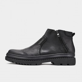 Herilios Zip-Up Oxford Black Boots (H9305G05)