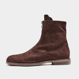 Herilios Zip-Up Suede Brown Boots (H9305G08)