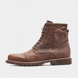 Herilios Textured Military Brown Boots (H9305G14)
