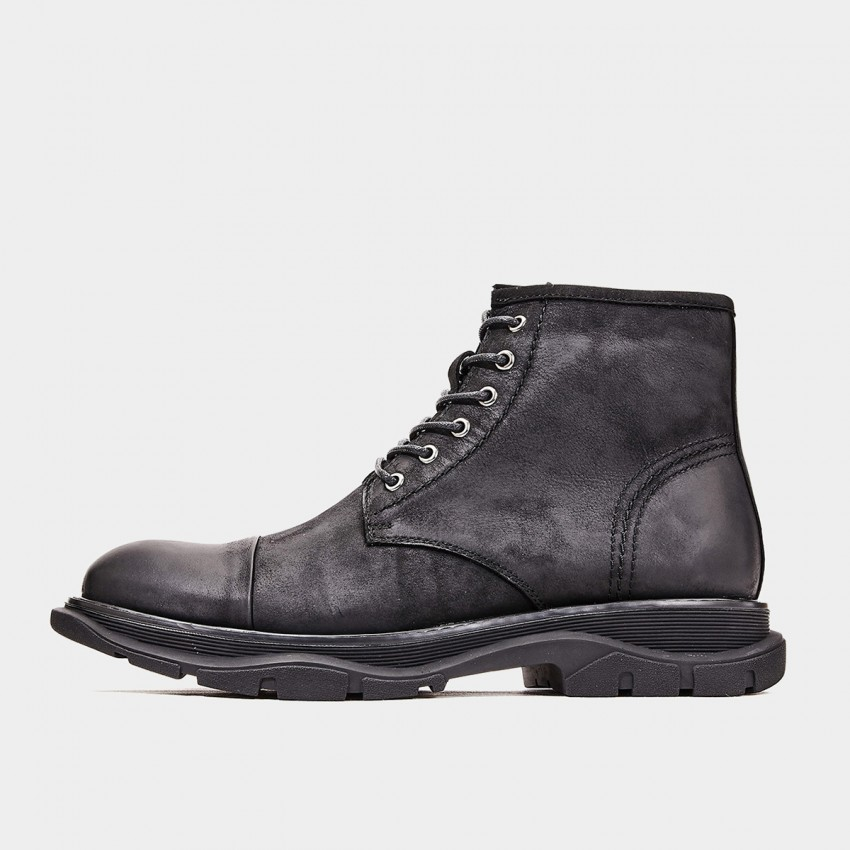 Herilios Curved Sole Black Boots (H9305G19)