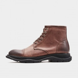 Herilios Curved Sole Coffee Boots (H9305G19)