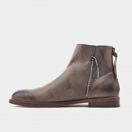 Herilios Duotone Seamed Grey Boots (H9305G85)