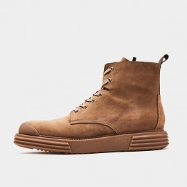 Herilios Zip-Up Lace-Up Camel Boots (H9305G86)