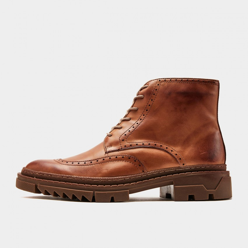 Herilios Zip-Up Toothed Oxford Apricot Boots (H9305G92)