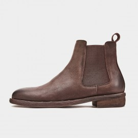 Herilios Classic Chelsea Coffee Boots (H9305G96)