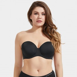 Delimira Smooth Cup Black Strapless Bra (H326)