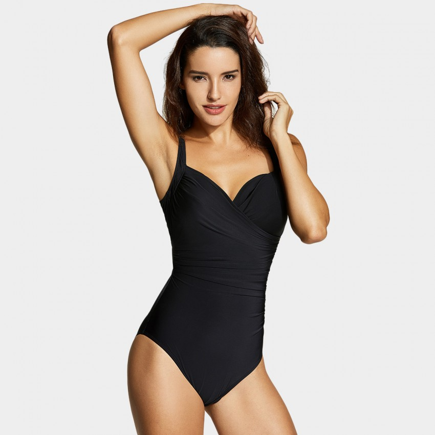 Delimira Sweetheart Neckline Black One Piece (LT049)