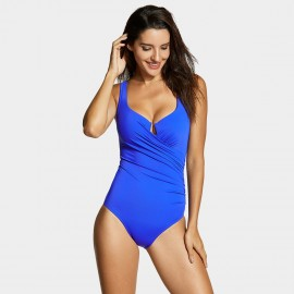 Delimira Keyhole Front Blue One Piece (LT050)